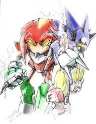 Mecha Kn beats Mecha Sonic by manaita