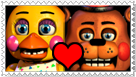 Toy Chica and Toy Freddy Stamp by Stamps20