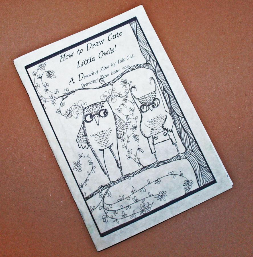 Drawing Owls Zine by inkcat
