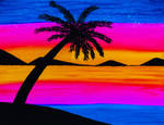 Evening Bay Palm by petrosillustrations