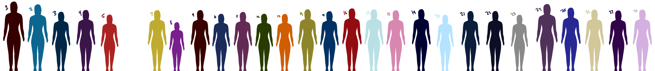 Dream Team height comparisons by mind-your-fingers