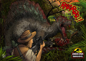 spinosaurus Jurassic Park by pauloomarcio
