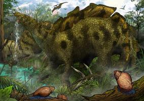 Wuerhosaurus - Dinosaur series by pauloomarcio