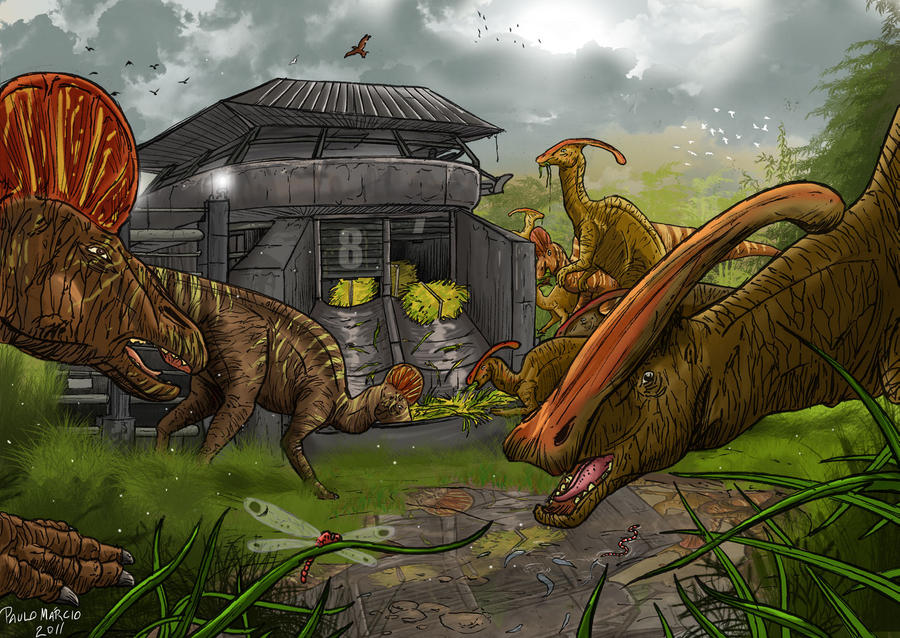 Jurassic Park Drawings And Jurassic Park By Pauloomarcio