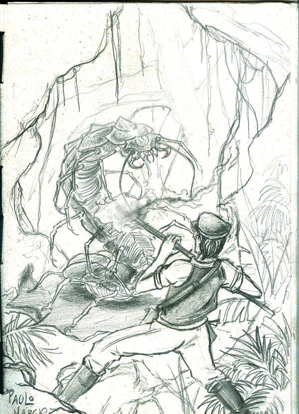 Skull Island Giant Centipede by pauloomarcio
