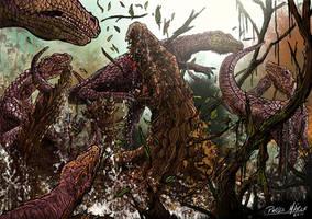 Baurusuchus by pauloomarcio