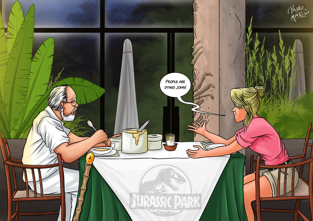 Jurassic Park John and Ellie by pauloomarcio