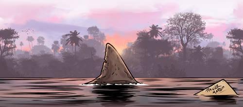Shark in amazon river - Rio Vermelho by pauloomarcio