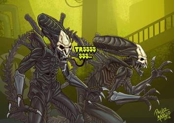 Alien vs Overwatch: Reaper xenomorph by pauloomarcio