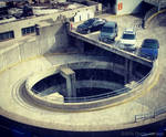 A helical parking structure