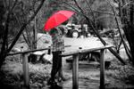 Debby's Red Umbrella