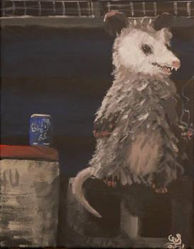 Untitled opossum 11x14 Acrylic on Canvas