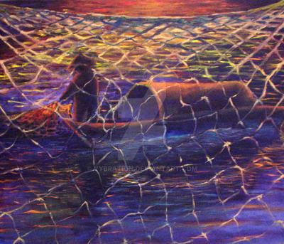 net fishing til' sunset by vybration