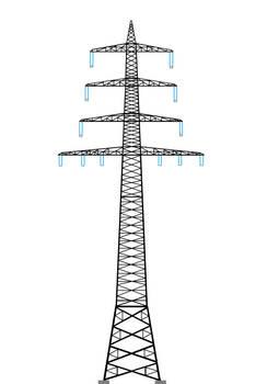 Strommast Grafik, Vierebenmast by lifeline5