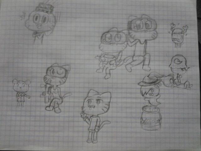 Gumball sketch dumpiez by CartoonDude95
