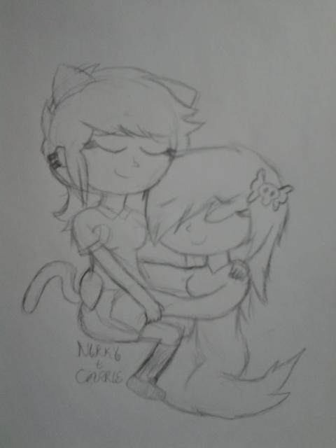 Nikky + Carrie sketch by CartoonDude95