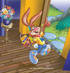 nesquik bunny on room