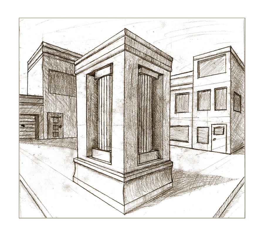 Perspective drawing by dinkelstefan