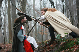 Warriors in the Woods fight 3 by Dewfooter