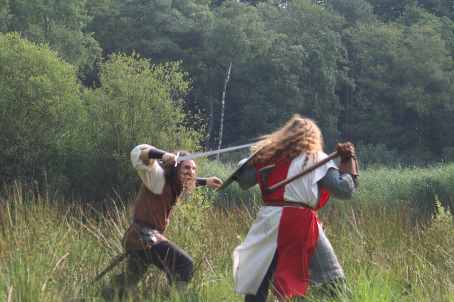 Axe vs sword 3 by Dewfooter on DeviantArt