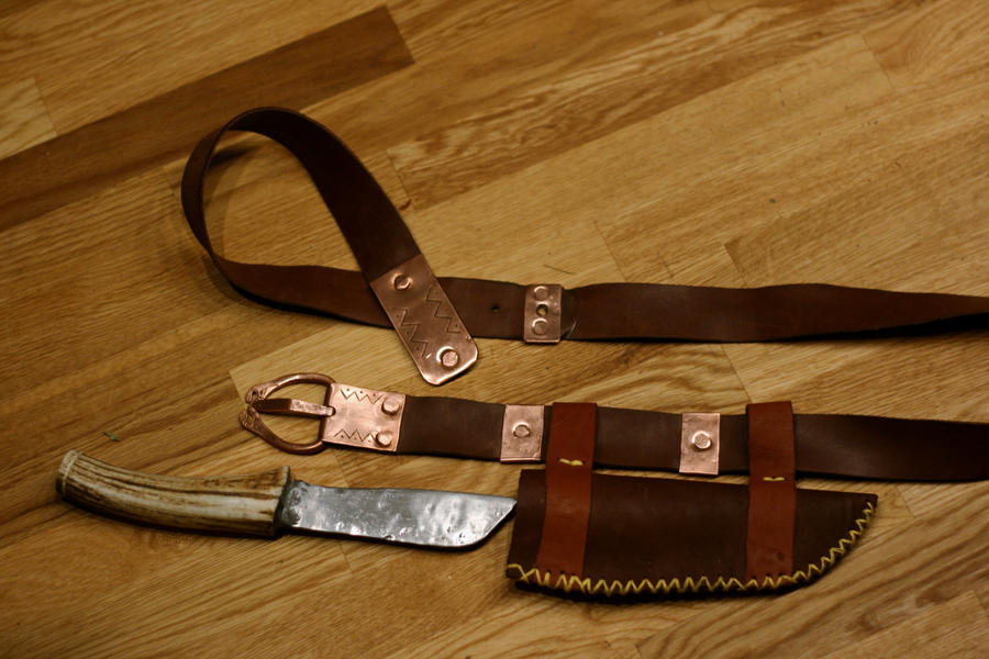 Early Medieval Belt And Knife By Dewfooter On DeviantArt