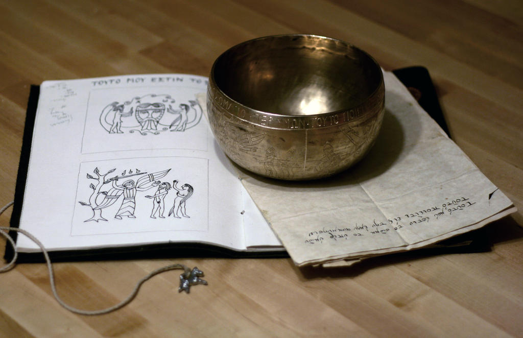 Engraved Lord's Supper bowl by Dewfooter