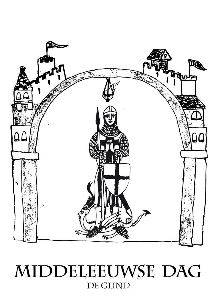 Middeleeuwse middag Kleurplaat 1 by Dewfooter