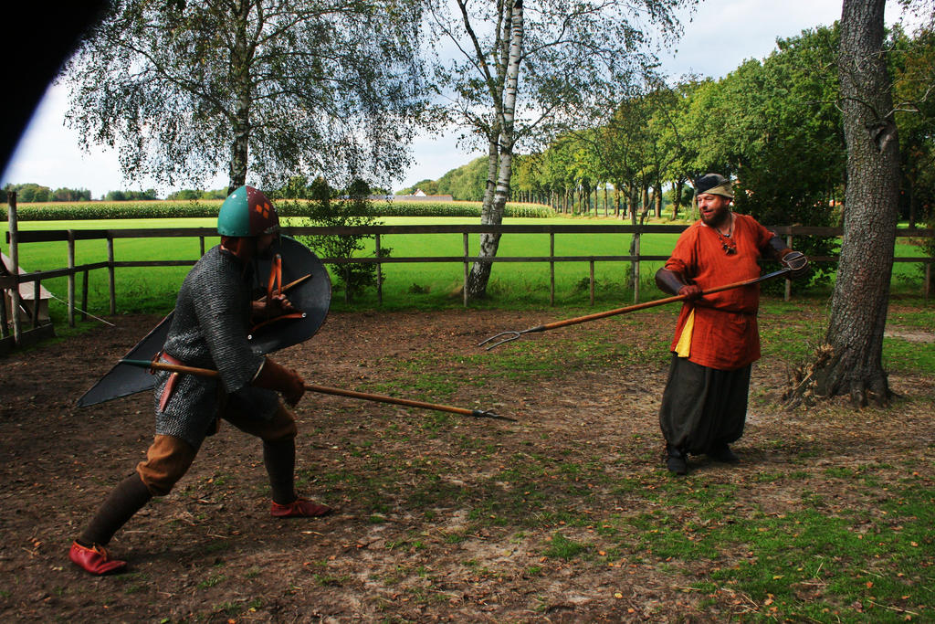 11th Century fight by Dewfooter
