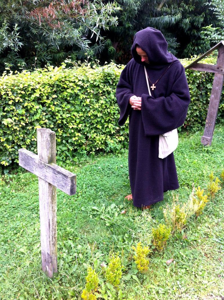 Benedictine monk by Dewfooter