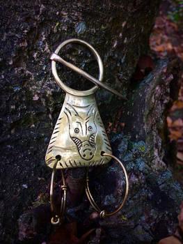 Viking culture fibula