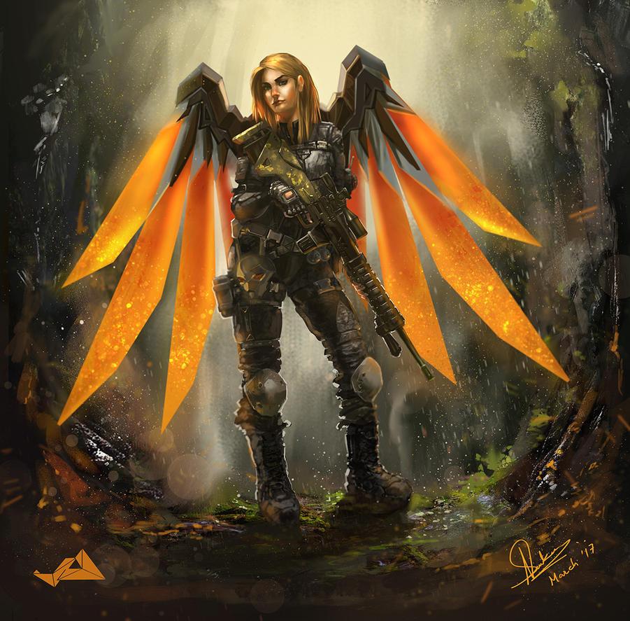Spec Ops Commander with Mech-Wings by Jit-Art