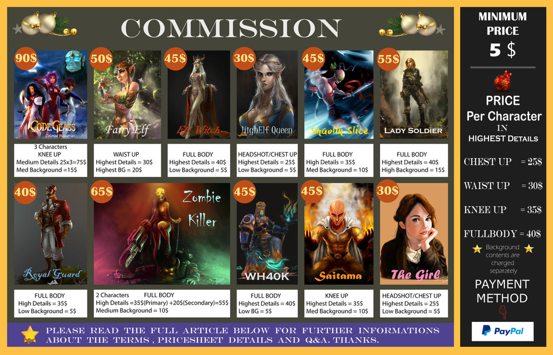 Commission Examples , Infos with Pricesheet. by Jit-Art