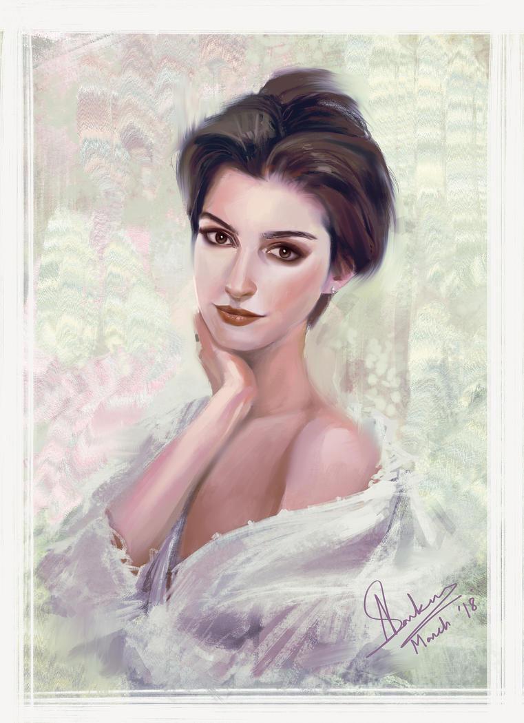 Anne Hathaway by Jit-Art