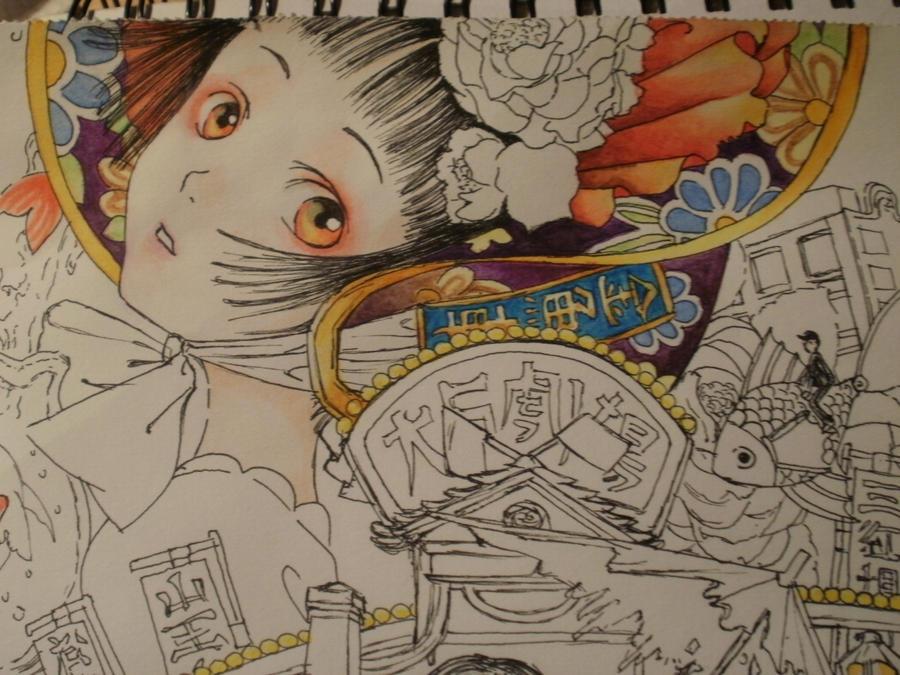 TukijiNaoFlyingGoldfishW.I.P.2 by Rena-chanRyuugu
