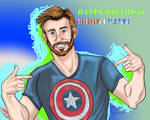 HAPPY BIRTHDAY CAPTAIN EVANS!! by CaptainSguiggle