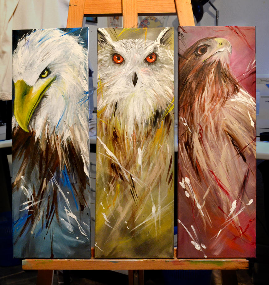 Birds of prey by The-Other-Half-Of-Me