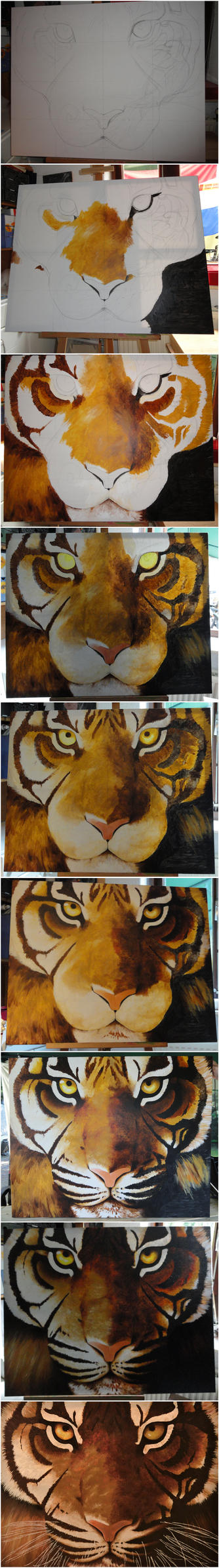 Tiger Progress by The-Other-Half-Of-Me