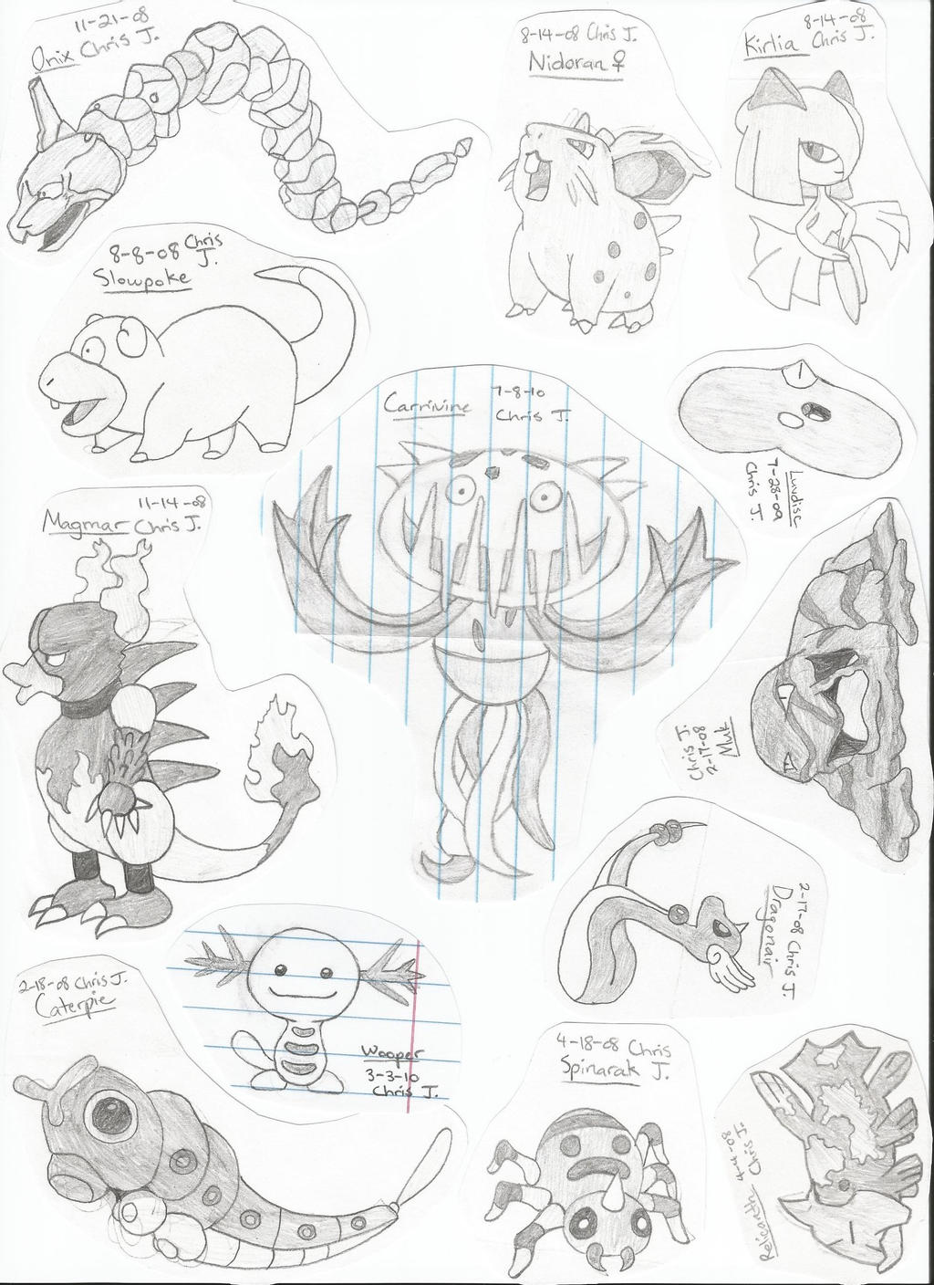 my best pokemon drawings by 17chrisjenkins fan art traditional art ...