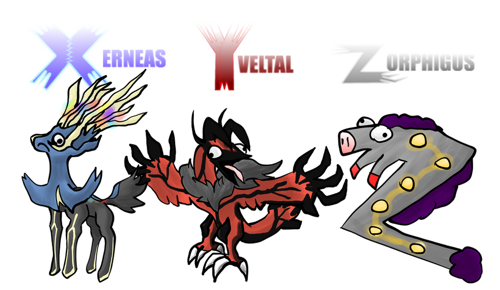 Pokemon x y and z by lotsofmudkips on deviantart