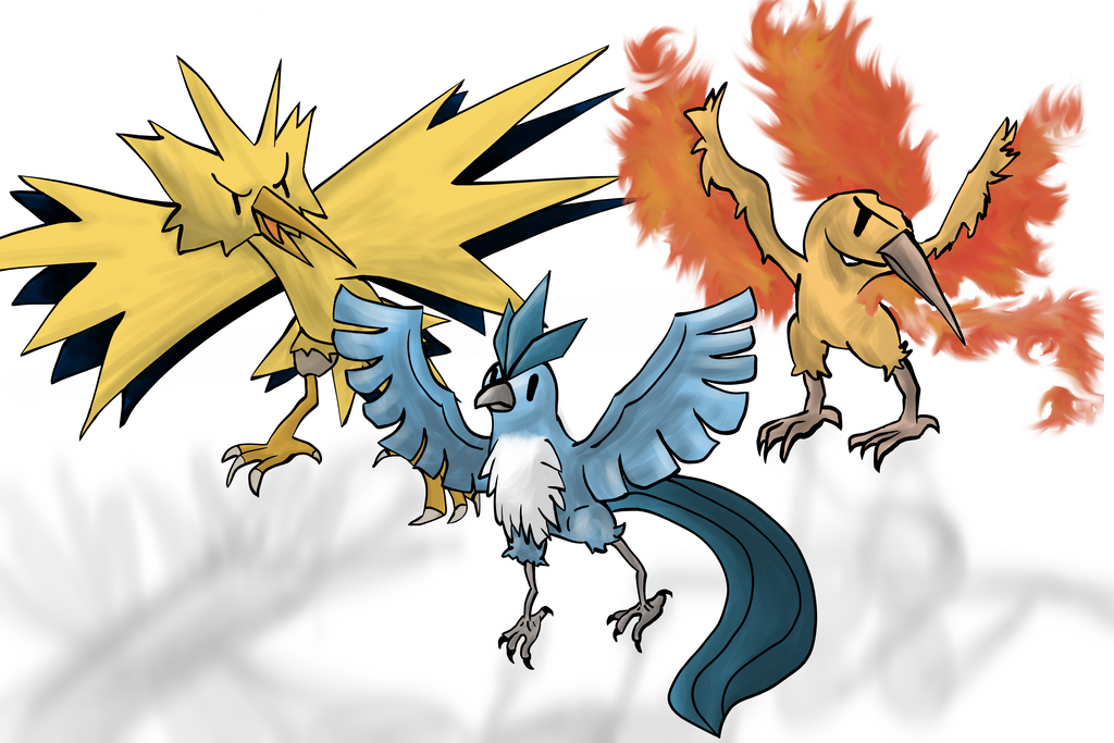 Pokemon - Articuno, Zapdos and Moltres by lotsofmudkips on ...