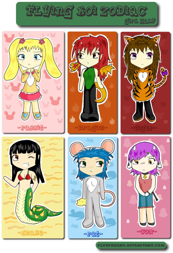 FK Chinese Zodiac - Girl Ver. by flynfreako