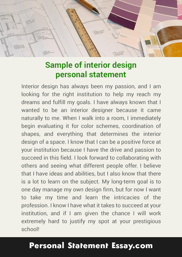 Interior Design Personal Statement by PSEssaySamples ...