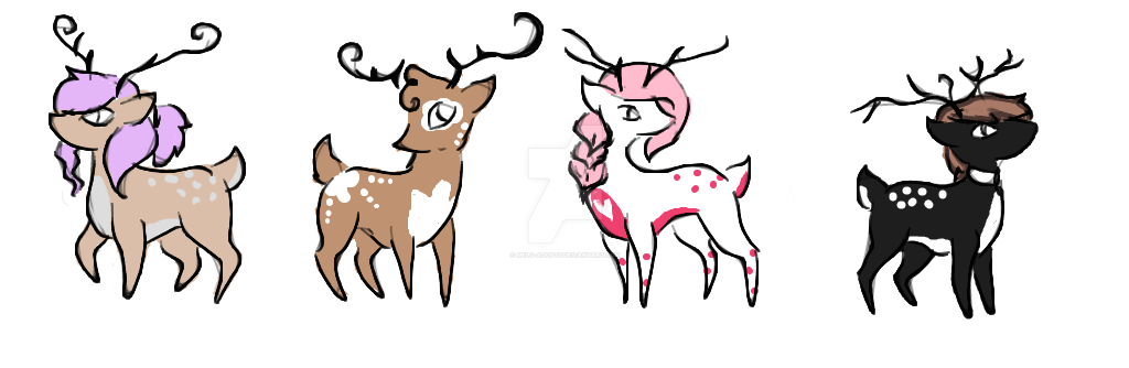 chibi reindeer batch 2 by melo adopts - Reindeer Images 2