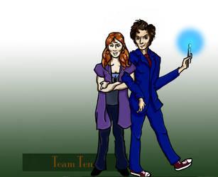 Team TARDIS: Ten by FaerieCarousel