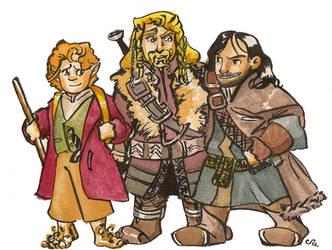 The Hobbit Bros by FaerieCarousel