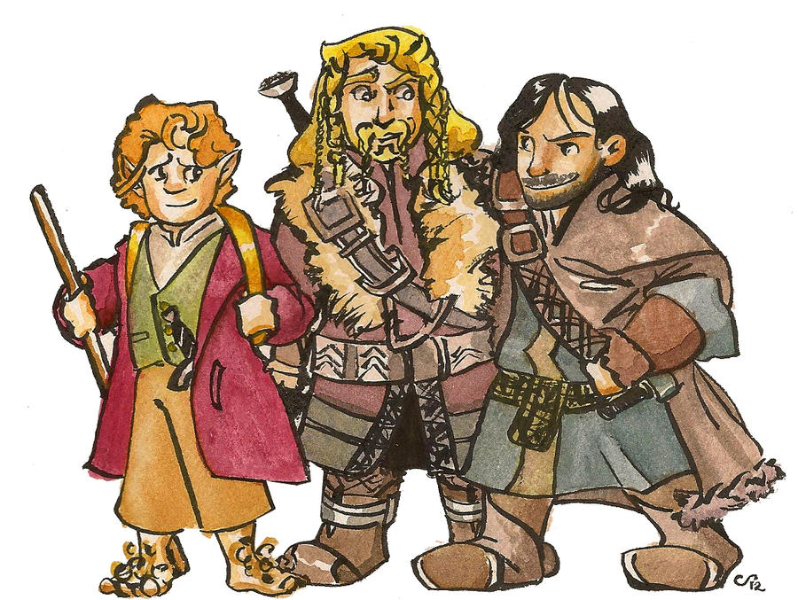 The Hobbit Bros by FaerieCarousel