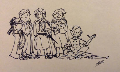 Hobbitses by FaerieCarousel