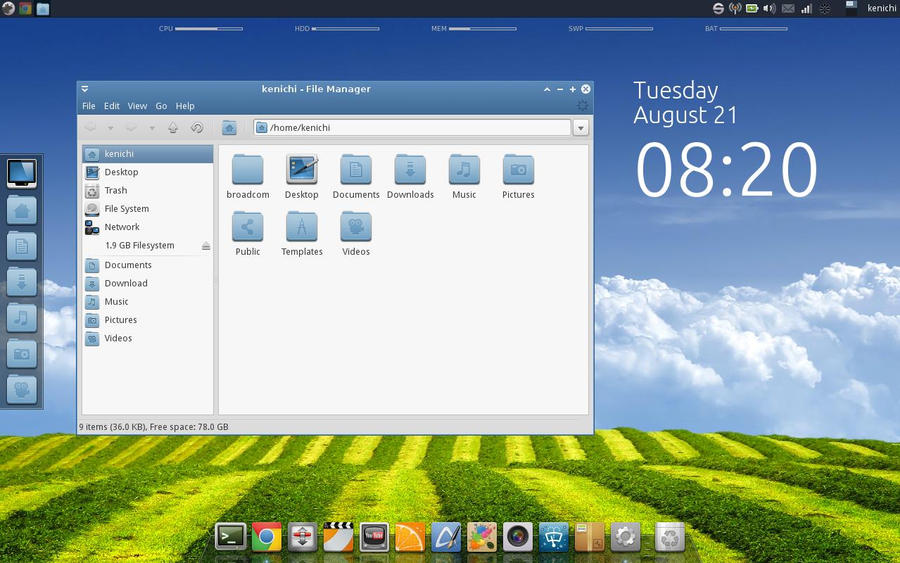 XFCE Blue by kenharkey7