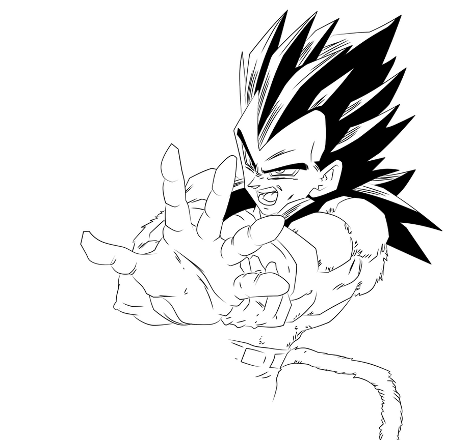 Image Gallery of Goku Ssj4 And Vegeta Ssj4 Coloring Pages