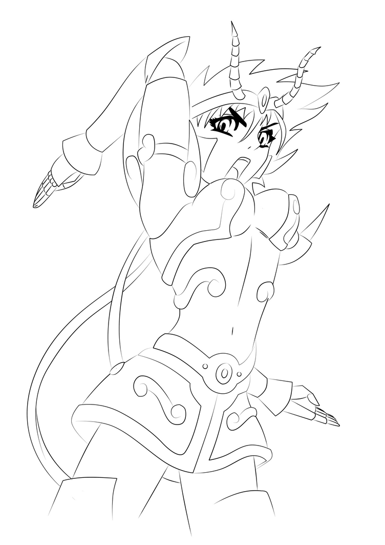 Capricorn golden angel by maniaxoi on deviantart for Capricorn coloring pages